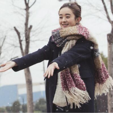 韩版拼色空调披肩韩国加厚保暖毛线围脖.jpg