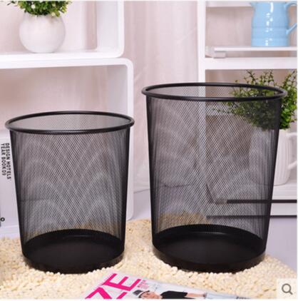 桌面时尚防锈铁丝网垃圾桶.jpg